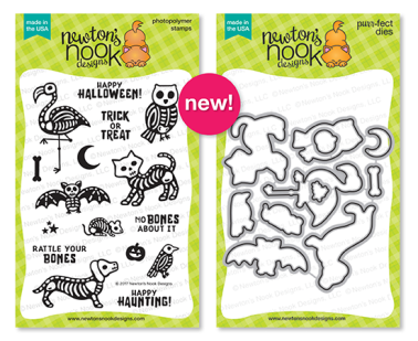 NND September Spooky Skeletons Stamp